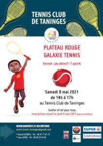 Compétition Galaxie Tennis plateau rouge Taninges