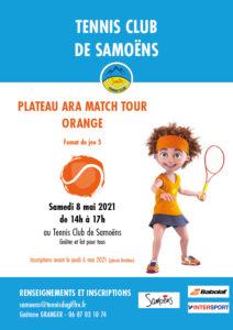 Compétition Tennis plateau ARA match tour orange Samoëns